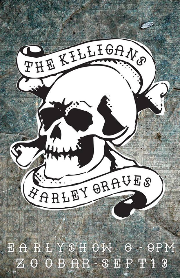 KILLIGANS in Lincoln Saturday Sep13